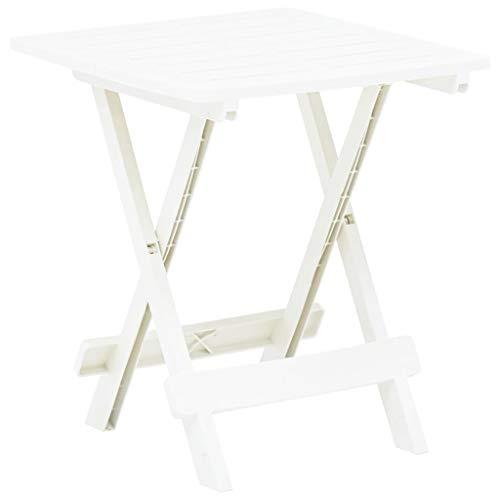 Festnight Tuintafel inklapbaar Tafel outdoor staande tuin vrije tijd salontafel 45x43x50 cm kunststof wit
