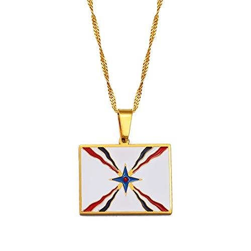 QDGERWGY Collares Pendientes para Mujeres Hombres Joyería Símbolo asirio