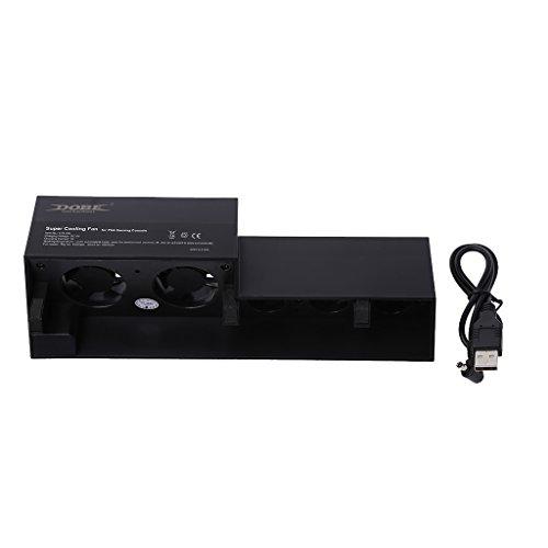 GREEN&RARE Ventilador de refrigeración USB de control de temperatura externo para consola 4 PS4
