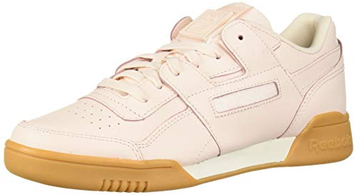 Reebok Women's Workout Lo Plus Sneaker Pale Pink/Chalk 5 M US