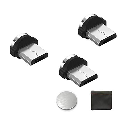 Kyerivs Magnetischer USB Adapter Magnet Micro USB Anschluss Ladekabelspitzen Rundkabel ohne Datensynchronisation