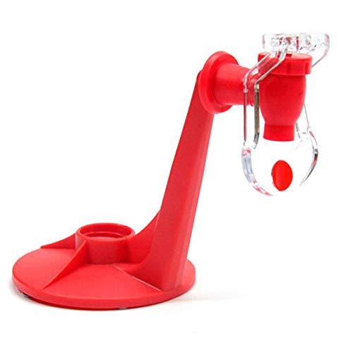BESTONZON Novelty - Dispensador de Agua y refrescos con Grifo, Color Rojo