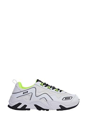MSGM Luxury Fashion Herren 2840MS700114001 Weiss Leder Sneakers | Jahreszeit Outlet