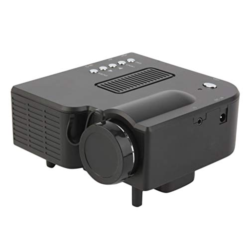 UC28 + Mini proyector portátil 1080P Full HD Home Theater Cinema AV VGA HDMI (Negro)