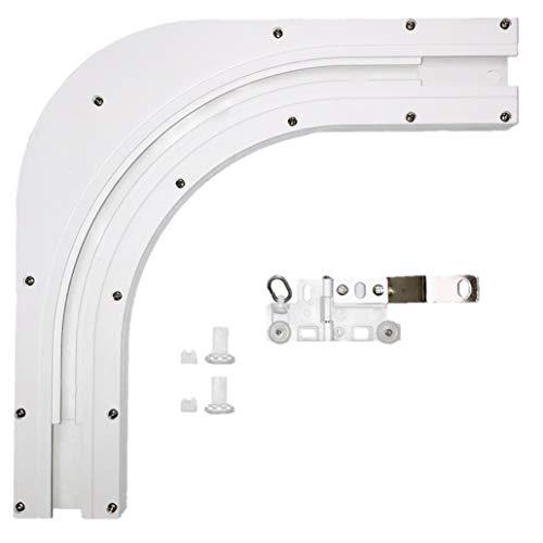 ABALON Angle, 90º oder 135º, Weiß, mit artikuliertem Master Carrier, elektrische vorhänge, elektrische vorhangschiene (90º)