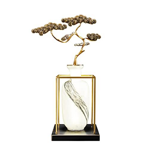 JAKROO Lámpara de Mesa Zen China Moderna, lámpara de decoración de Rama de Estilo Chino Retro, Adecuada para Sala de Estar, Dormitorio, Lugares de Ocio y Entretenimiento