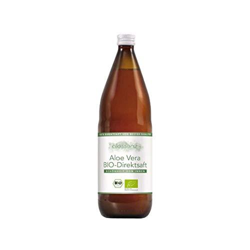 100% Aloe Vera Saft, Bio Direktsaft, Aloe Barbadensis Miller, 100% Innenfilet, handfiletiert, 1.000 ml Flasche enthält 1200mg/Liter Aloverose (1) …