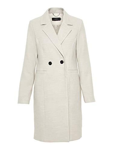 VERO MODA Damen VMCALARAMBLA 3/4 Jacket NOOS Mantel, Beige (Birch Detail: Melange), 38 (Herstellergröße: M)