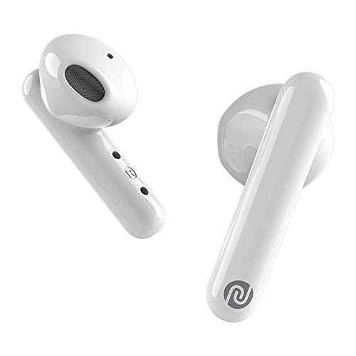 Noise Air Buds Truly Wireless Earbuds with Mic for Crystal Clear Calls, HD Sound, Smart Touch and 20 Hour Playtime – ICY White