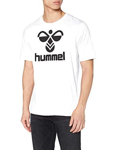 hummel Classic Logo tee - Camiseta para Hombre, Hombre, tee_SS, 210657, Blanco,...