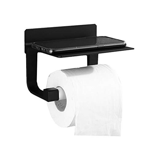 DC CLOUD Klorollenhalter Wc-rollenhalter Toilettenpapierhalter Und Handtuchringset Wand-Toilettenpapierhalter Toilettenpapierhalter Schwarze Toilettenrolle Black