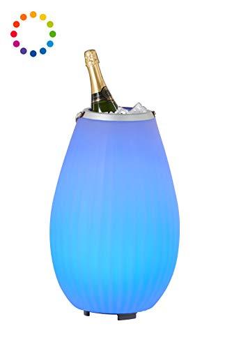 The Joouly 50 - Bluetooth Lautsprecher mit Licht in 9 wechselbaren Farben, per App steuerbar, Getränkekühler, 5.550 mAh Akku (ca. 11 Std. Laufzeit), JOOULYs koppelbar, Mod. 2020