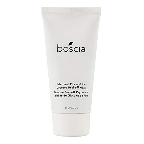 boscia Cryosea Mermaid Fire and Ice Peel-off Mask – Vegan, Cruelty-Free, Natural and Clean Skincare   Facial Mask for Increasing Circulation, Firming, and Lifting, 80g