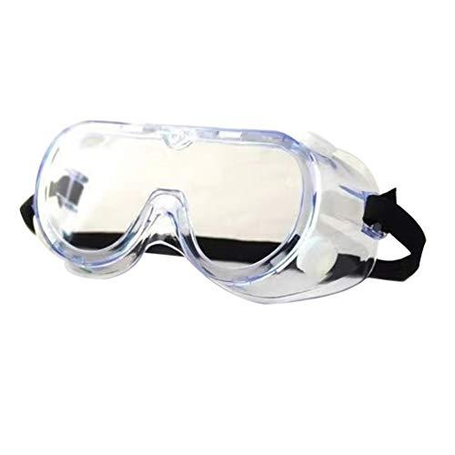 Exceart Schutzbrille Brille Persönliche Schutzausrüstung Klar Beschlagfrei Spritzwassergeschützt Schlagfestigkeit für Arbeiten im Freien