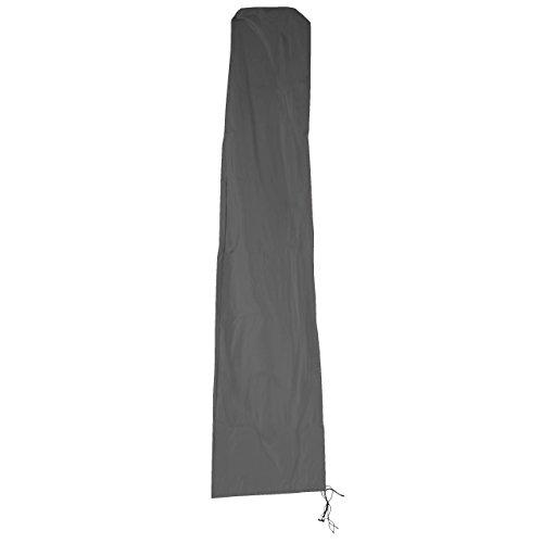 Mendler Schutzhülle HWC für Ampelschirm bis 3,5 m, Abdeckhülle Cover mit Reißverschluss - anthrazit