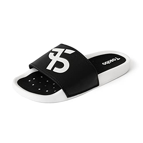 Mens Luminous Sport Slide Sandal Lightweight Comfort Sports Slides for Big Kid Non-Slip Quick-Drying Slippers with Contoured Footbed Outdoor Slip-On Sandals for Summer Pool Beach Size 7 to 11