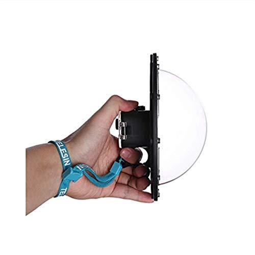 para GoPro Dome Hero Session, Lente de Puerto de cúpula con Cubierta Transparente Pistola Disparador Fotografía subacuática Accesorio de cámara Alojamiento Caja de Impermeable 30M