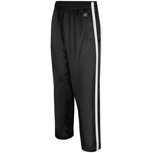 Colosseum Mens Tearaway Athletic Pants (Black/White) - XX-Large