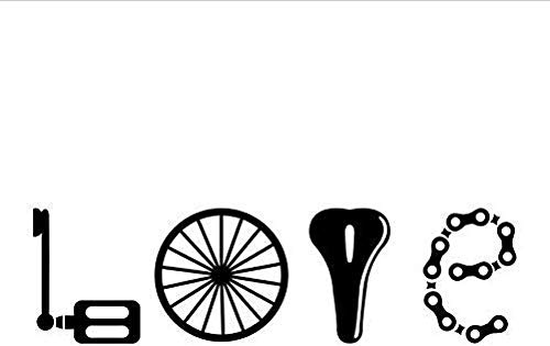 Muursticker muursticker liefde bellen alle fiets liefhebbers Art Decor PVC Sticker fiets bumper muurschildering kunst decoratie 83x26Cm