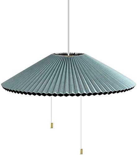 Deckendeckenbeleuchtung , Blaue moderne Pendelleuchte Kreativität Plissee änderbare Form Hängendes Licht Wohnzimmer Schlafzimmer Restaurant Dekoration Kronleuchter-blau-weißes Licht.48 cm (19 Zoll)