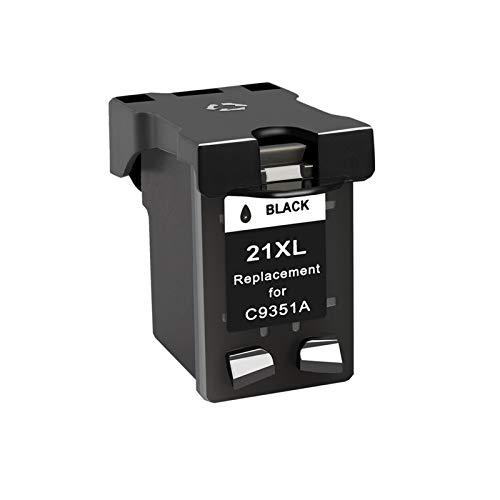 CMDZSW Compatible 21 Reemplazo de Cartucho de Tinta Negra, Adecuado para HP 21 22 22 HP21 para Deskjet F2280 F4180 F4100 F2100 F2200 F300 (Color : 1BK)