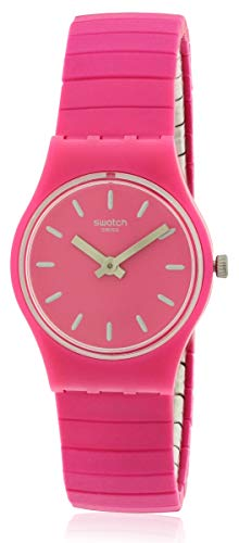 Swatch LP149A Flexipink - Reloj de Pulsera para Mujer (25 mm), Color Rosa