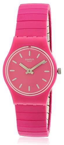 Swatch LP149A Flexipink - Reloj de Pulsera para Mujer (25 mm), Color Rosa