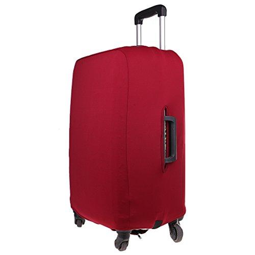 perfk Copri valigia Protettore Di Bagagli Valigia Copertura Borsa Protettiva Cover In Tessuto Elastico - Vino rosso M