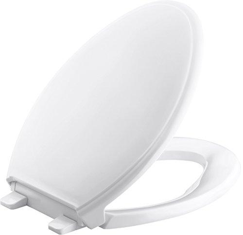 Kohler K-2598-0 Quick-Release Elongated Toilet Seat White GRIP-TIGHT GLENBURY