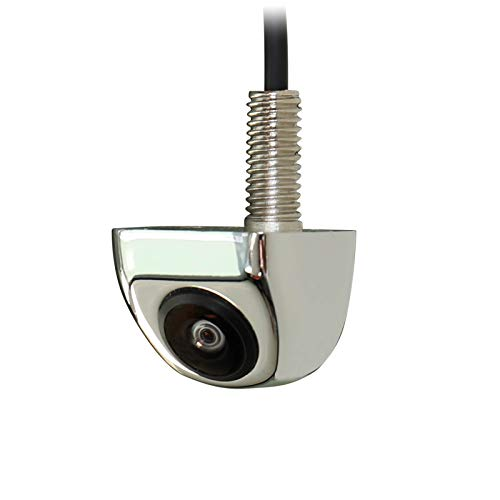 NATIKA Chrome Backup/Front View Camera,IP69K Waterproof Good Night Vision HD and Super Wide Angle Metal OEM Style Chrome Reverse Rear View Backup Camera for Cars Pickup Trucks SUVs RVs Vans (Chrome)