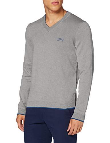 BOSS Herren Viston_w20 Sweater, Light/Pastel Grey (59), S EU