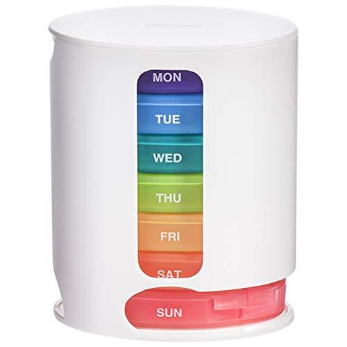 Medicamentos 1pcs Medicina Mini caja de la píldora portátil píldora píldora de la caja del arco iris sub-embalaje Caja de almacenamiento de 7 días a la semana píldora caja de almacenamiento 1Eκτοŋks-1