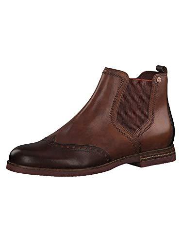 Tamaris Damen 1-1-25027-23 Chelsea Boots, Braun (Chestnut Comb 448), 41 EU