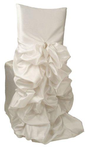 Wildflower Linen Iridescent Taffeta Diana Chiavari Chair Cover, White