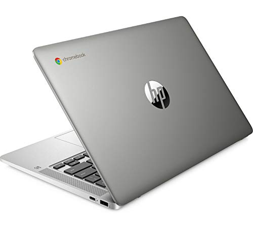 "HP - PC Chromebook 14a-na0006nl, Intel Pentium Silver N5000, RAM 8 GB, eMMC 128 GB, Sistema Operativo Chrome OS, Google Play Store, Schermo FHD 14"", Audio Bang&Olufsen, USB-C, Webcam, Argento"