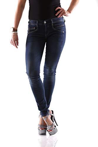 Herrlicher Damen Gila Slim Jeans, Blau (Clean 051), W28/L32 (Herstellergröße: 28)
