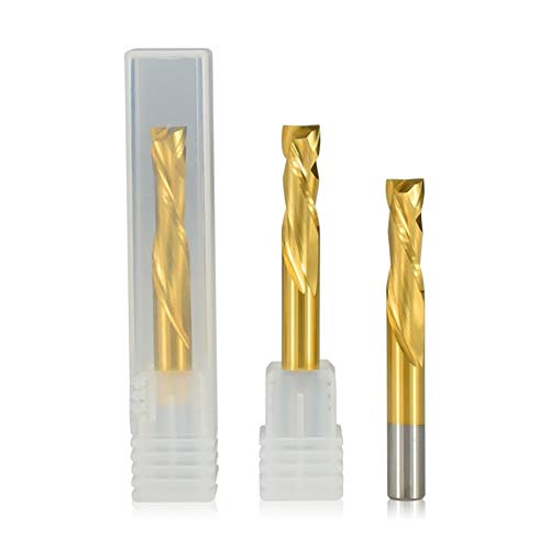 Shenyitool 2 Flute up Down Cutter 3,175/4/6/8 / 10mm Schaft Tianium Beschichtetes Hartmetall Schaftfräser CNC-Fräser Fräser Werkzeug (Size : 6x32x70L)