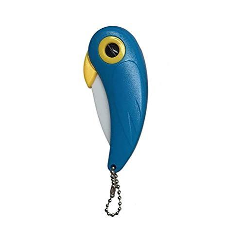 Akemaio Mini Couteau en céramique de Fruits, Oiseaux Poche en Forme de Coupe Pliable Oiseaux Couteau Couverts Portable pour Le Camping