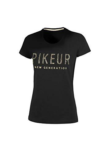 PIKEUR Damen Round Neck Shirt LENE New Generation Collection Frühjahr/Sommer 2021,black, 42