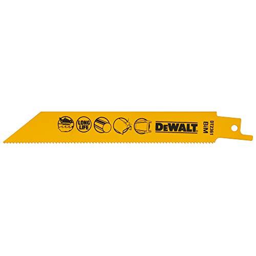 DEWALT DT2361-QZ - Hoja de sierra sable bi-metal, long: 152mm, paso de...
