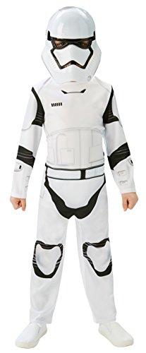 Rubie's 3620267 - EP7 Stormtrooper classic child, 5/6 jahre (M), weiß/schwarz