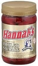 HANNAH'S PICKLED SAUSAGE 16oz. JAR