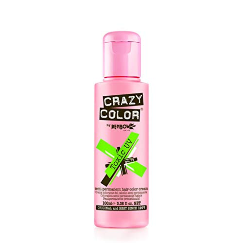 Crazy Color GO TOXIC UV Semi Permanent Haarfarbe Creme 100 ml