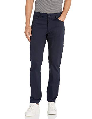 Van Heusen Pantalón de Hombre Slim Fit Flex Super Soft Tech, Azul Marino (Sea Navy), 34W x 32L