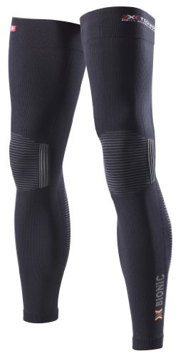 X-Bionic Adulto Ropa funcional Ciclismo UJO Pierna Caliente DX SX No Seam - Negro/Antracita, XS
