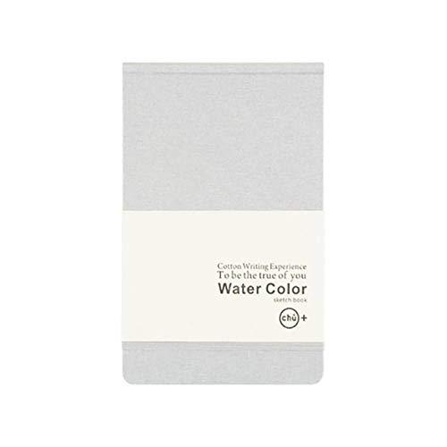 HUAAT -2 PCS A5 del paño de algodón acuarela en blanco Bloc de notas Niño Pintura del bosquejo del Doodle del cuaderno, Tamaño: A5 (gris claro) DIY (Color : Light Brown)