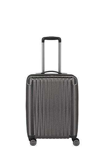 TITAN 4-Rad Handgepäck Koffer mit TSA Schloss + Dehnfalte, Gepäck Serie BARBARA GLINT: Exklusiver Hartschalen Trolley im modischen Design, 845406-04, 55 cm, 39 Liter (erw.), anthra metallic (grau)