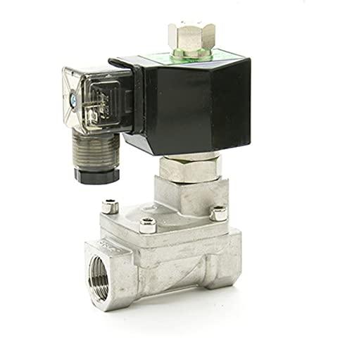 YIJIAN-UMBRELLA Válvula solenoide de Acero Inoxidable 1/2 Orificio de 15 mm 16 Bar Normalmente Abierto válvula de solenoide piloto SS304 Sellos de Agua (Specification : SPX15K, Voltage : DC 24V)