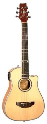 Kirkland Travel Guitar natur Shadow VTC Preamp inkl. Gigbag