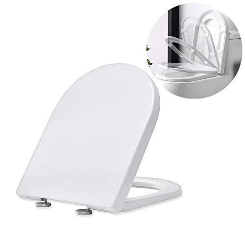 Homelody Tapa y AsientoTapadera WC Universal en Forma de U Cierre Suave Descenso Silencioso Tapa Robusto Sencillo de Instalar Taza de vater Taza para Inodoro